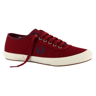 Tenis-Fred-Perry-Woodford-Twill-Vinho