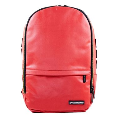 Mochila-Sprayground-Red-Wax-Cotton-Metal-Zipper