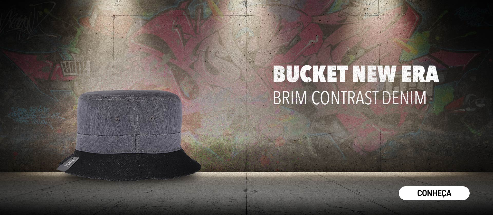 Bucket New Era Brim Contrast Denim