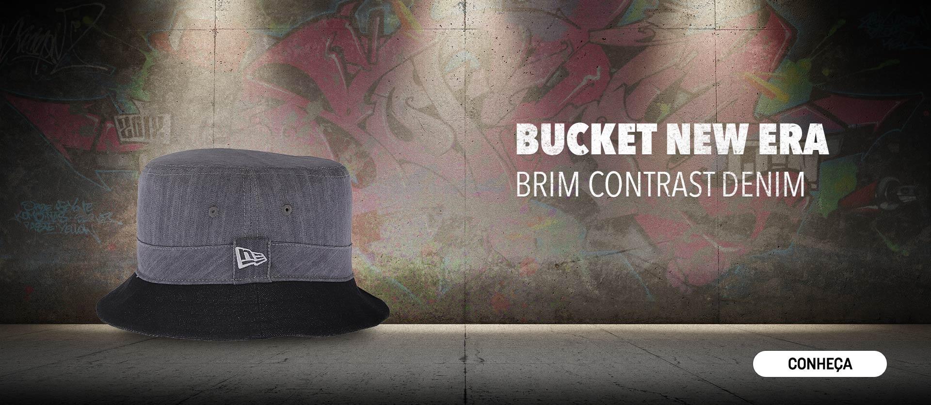 Bucket New Era Brim Contrast Denim