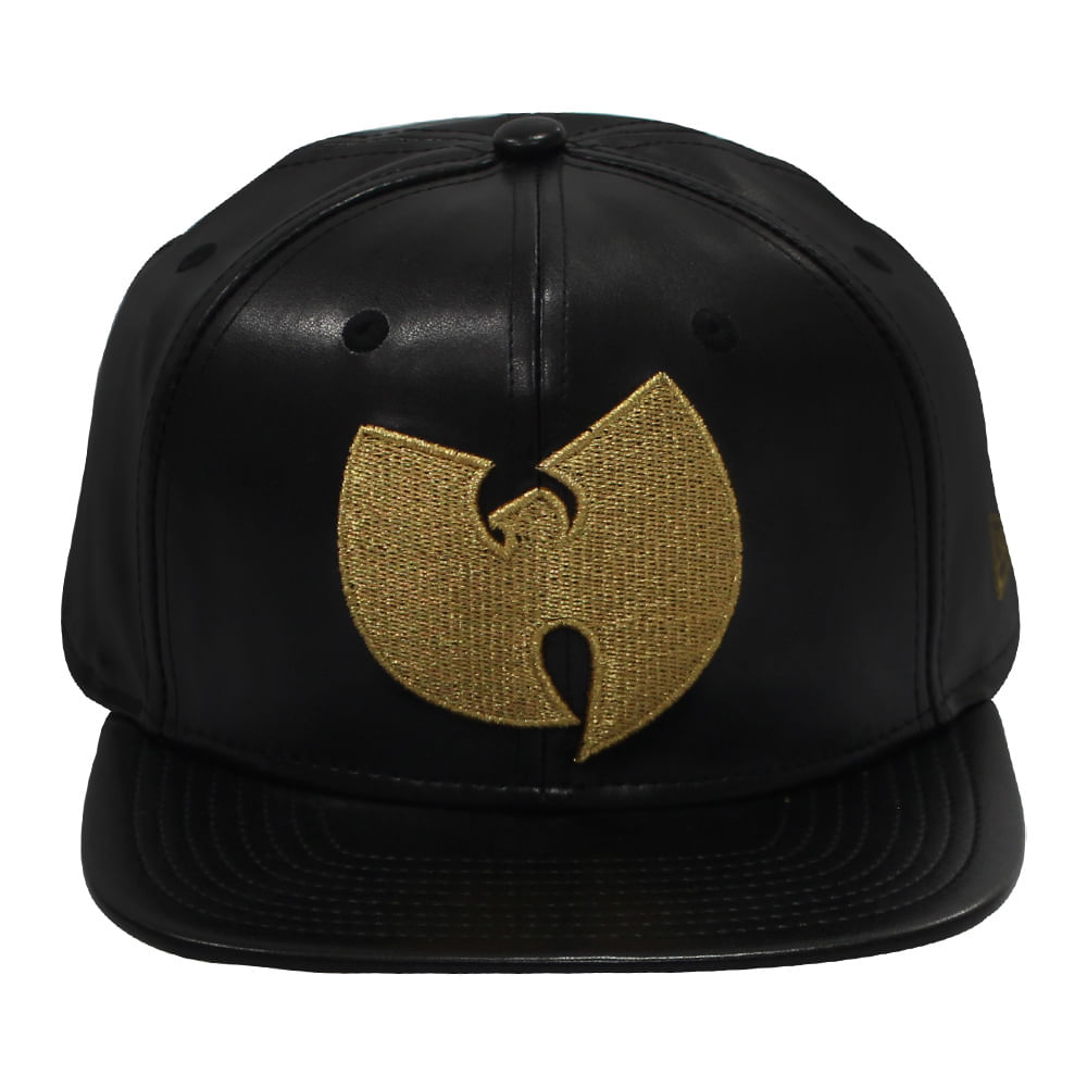 Bone-New-Era-9Fifty-OF-SN-Wu-Tang-Gold-And-Leather-Masculino