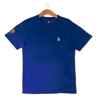 Camiseta-New-Era-Gold-City-Los-Angeles-Dodgers-Masculina-Azul