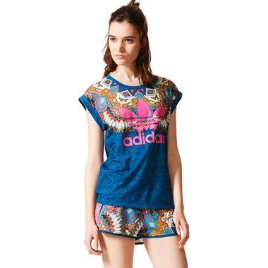 Camiseta-adidas-Borbomix-Feminina-Multicolor