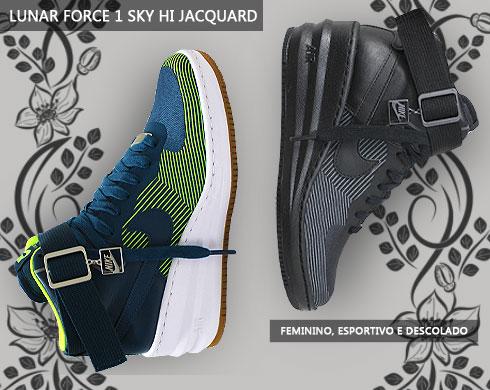 Tênis Nike Lunar Force 1 Sky Hi