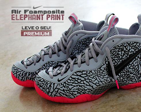 Air Foamposite Pro Premium Elephant Print