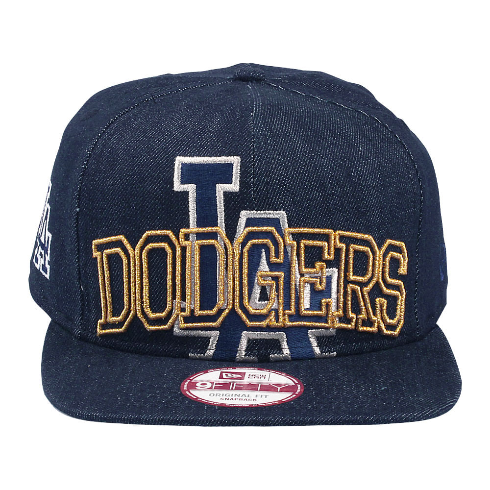 Bone-New-Era-9Fifty-Of-Sn-Metalic-Cue-Los-Angeles-Dodgers-Masculino