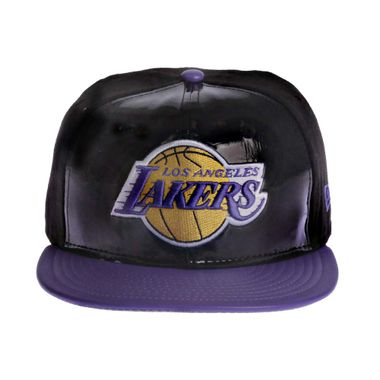 Boné New Era 59Fifty Patent Front Los Angeles Lakers Masculino bbb3beb518b