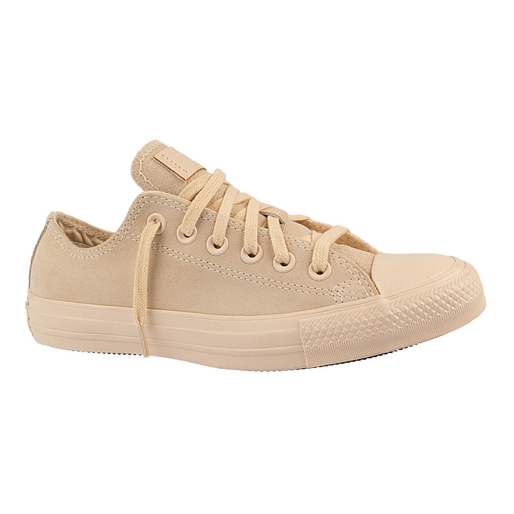 Tenis-Converse-Chuck-Taylor-All-Star-Suede-Bege