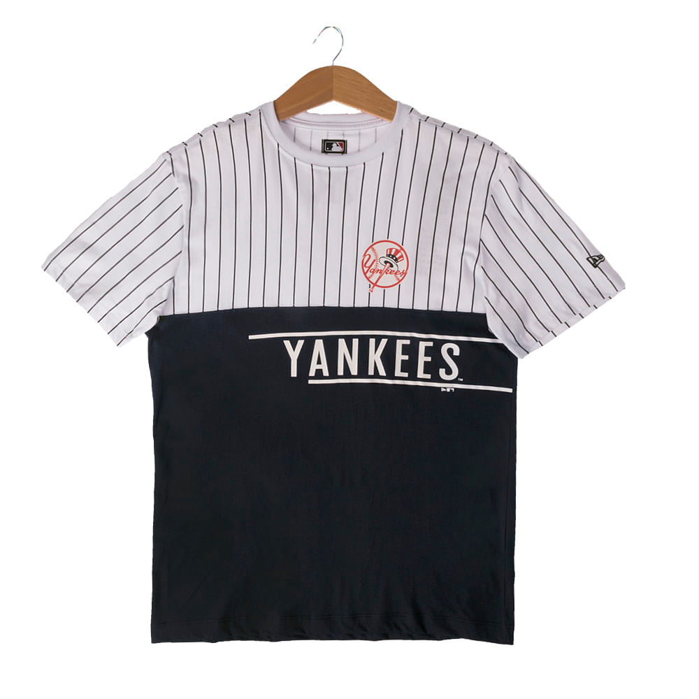 Camiseta New Era 21 Stripe Team New York Yankees Masculina ... 59959bdd35133
