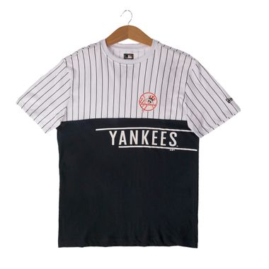 Camiseta-New-Era-21-Stripe-Team-New-York-Yankees-Masculina-Branco