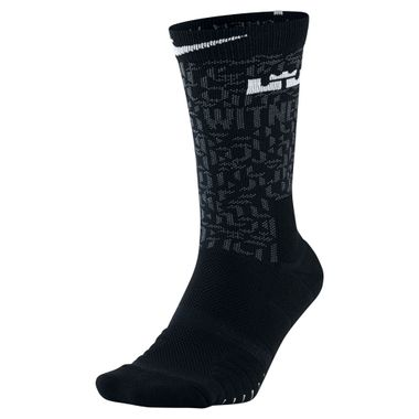 Meia-Nike-Lebron-James-Elite-Quick-Crew-Masculina-Preto