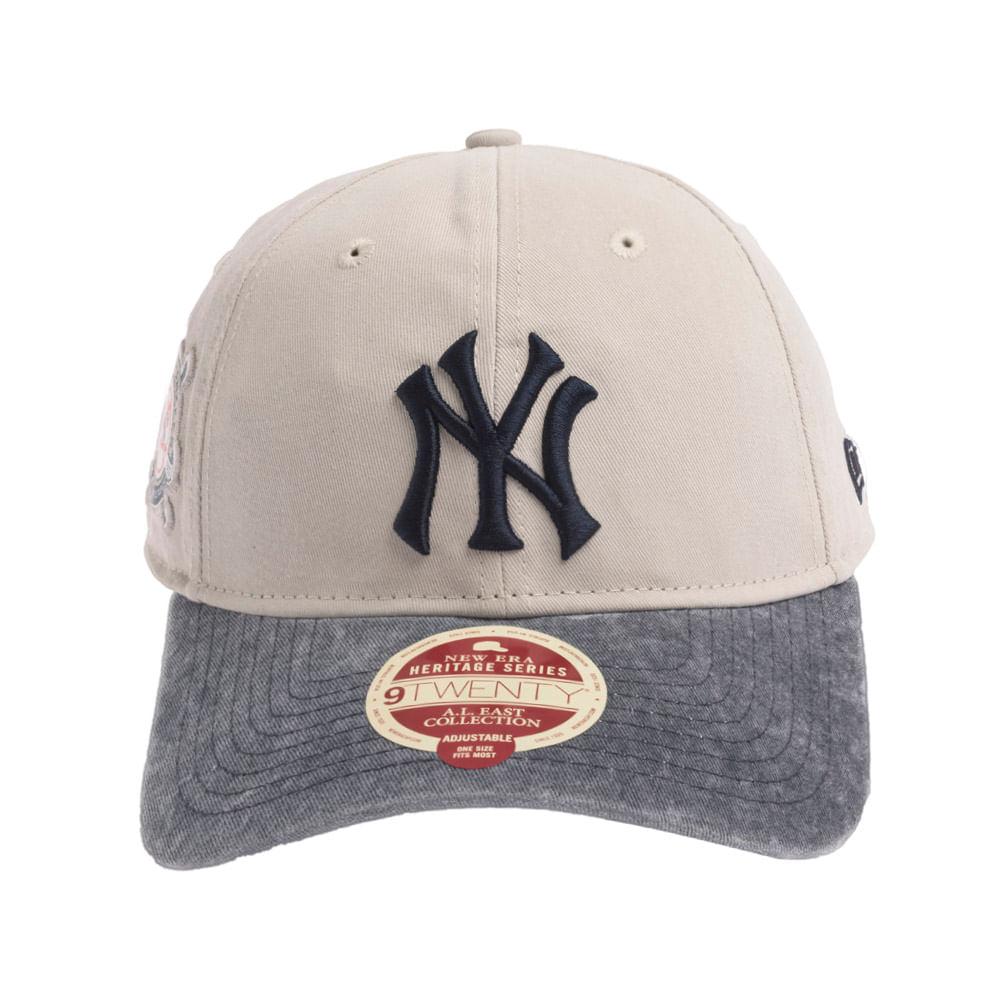 Bone-New-Era-9Twenty-ST-A-L--East-Patch-New-York-Yankees-Masculino-Cinza