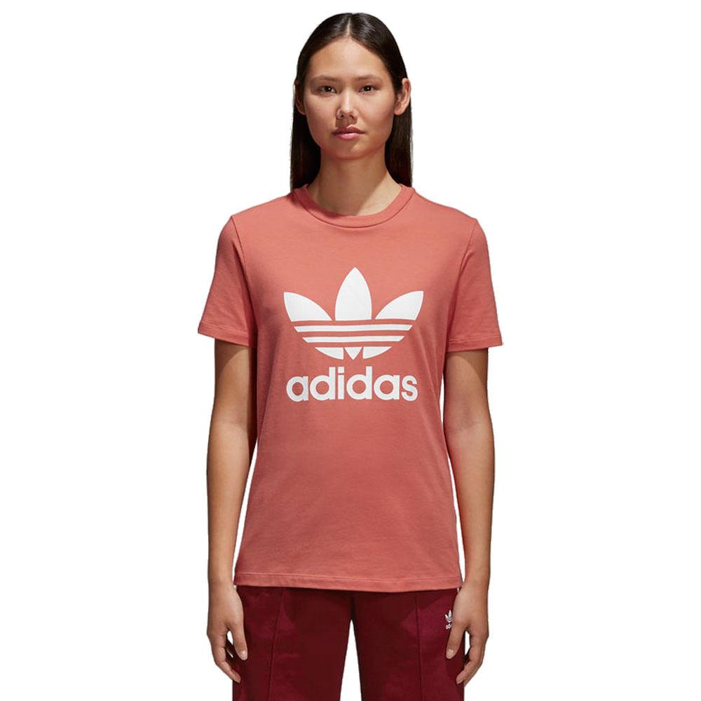 d2fb7cabc Camiseta-adidas-Trefoil-Feminina- ...