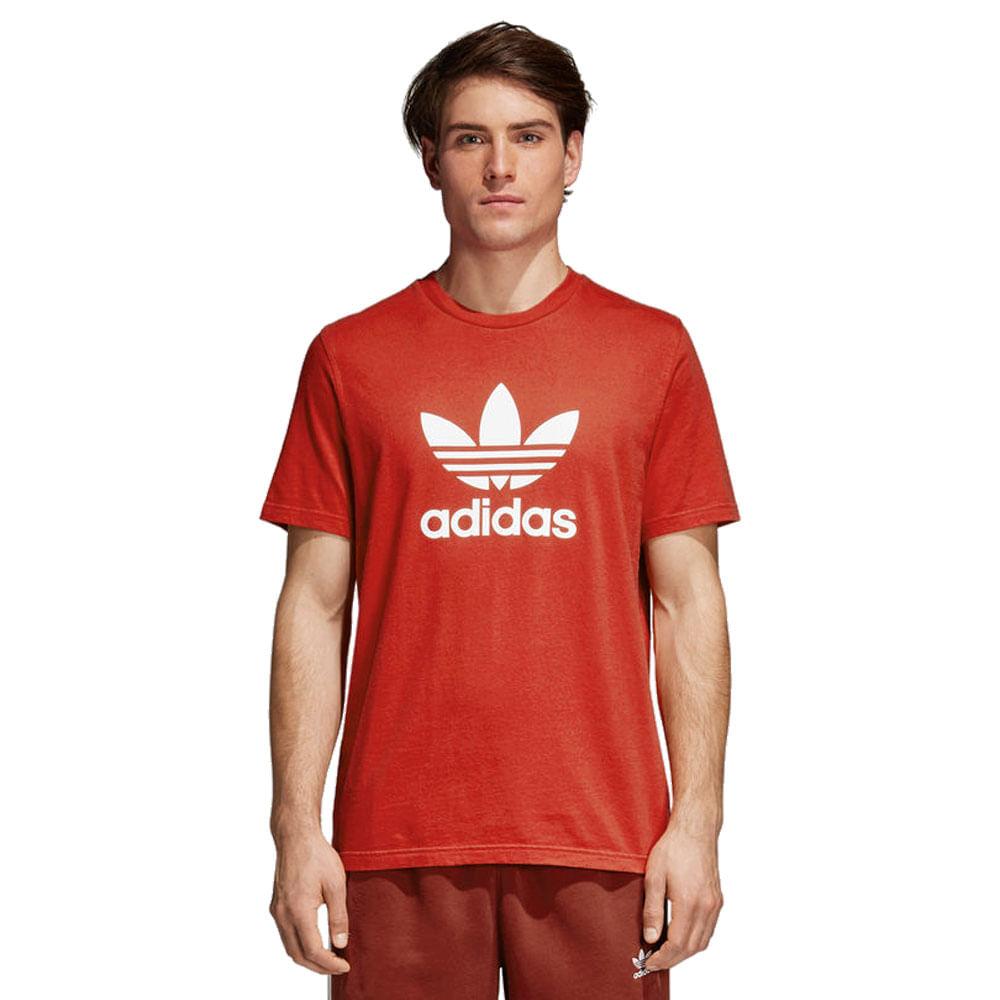 Camiseta-adidas-Originals-Trefoil-Masculina-Laranja