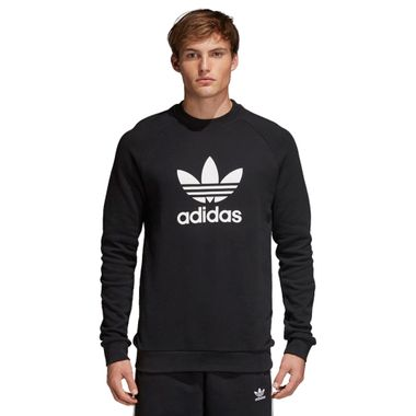 Blusa-adidas-Trefoil-Crew-Masculina-Preto