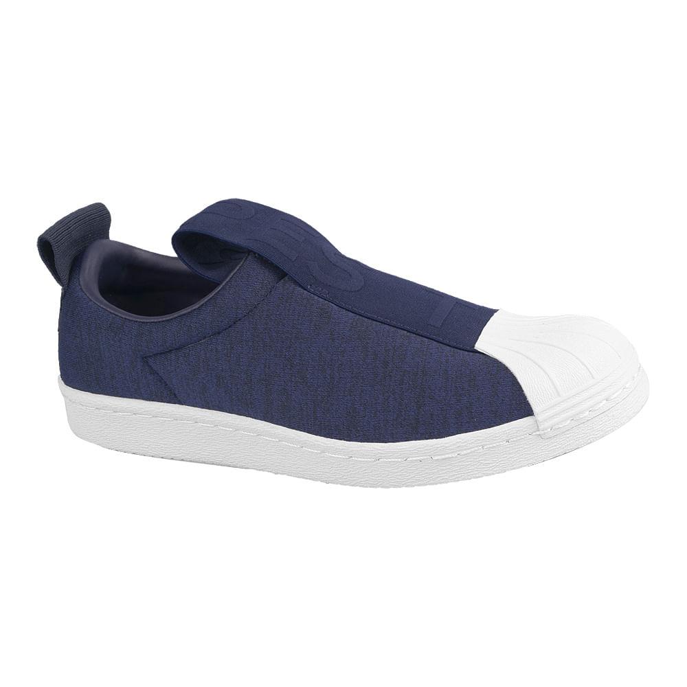 Tenis-adidas-Superstar-Bw3S-Slipon-Feminino-Azul