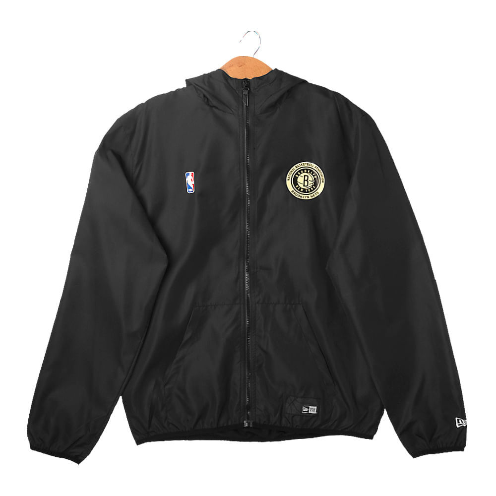 Jaqueta-New-Era-Windbreaker-Core-Brooklyn-Nets-Masculina-Preta