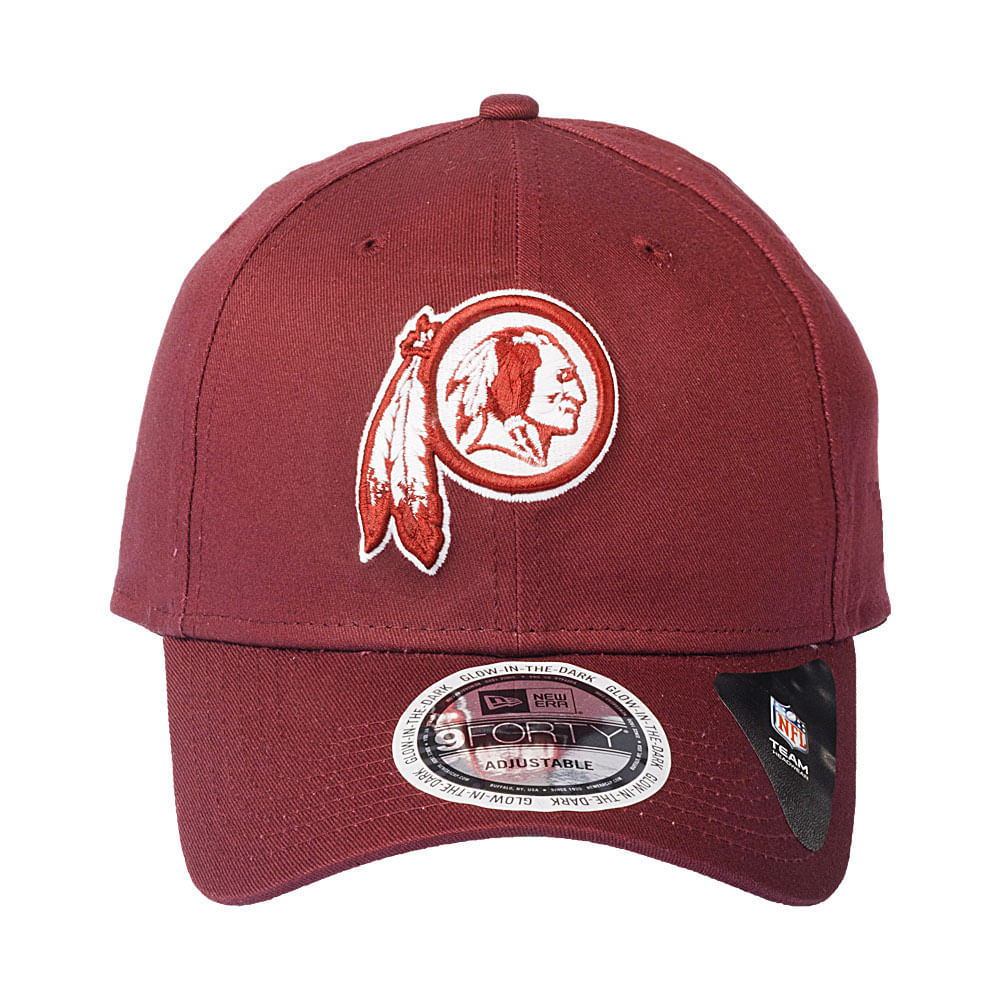 Bone-New-Era-9Forty-Neon-In-The-Dark-Whasington-Redskins-Masculino-Vinho