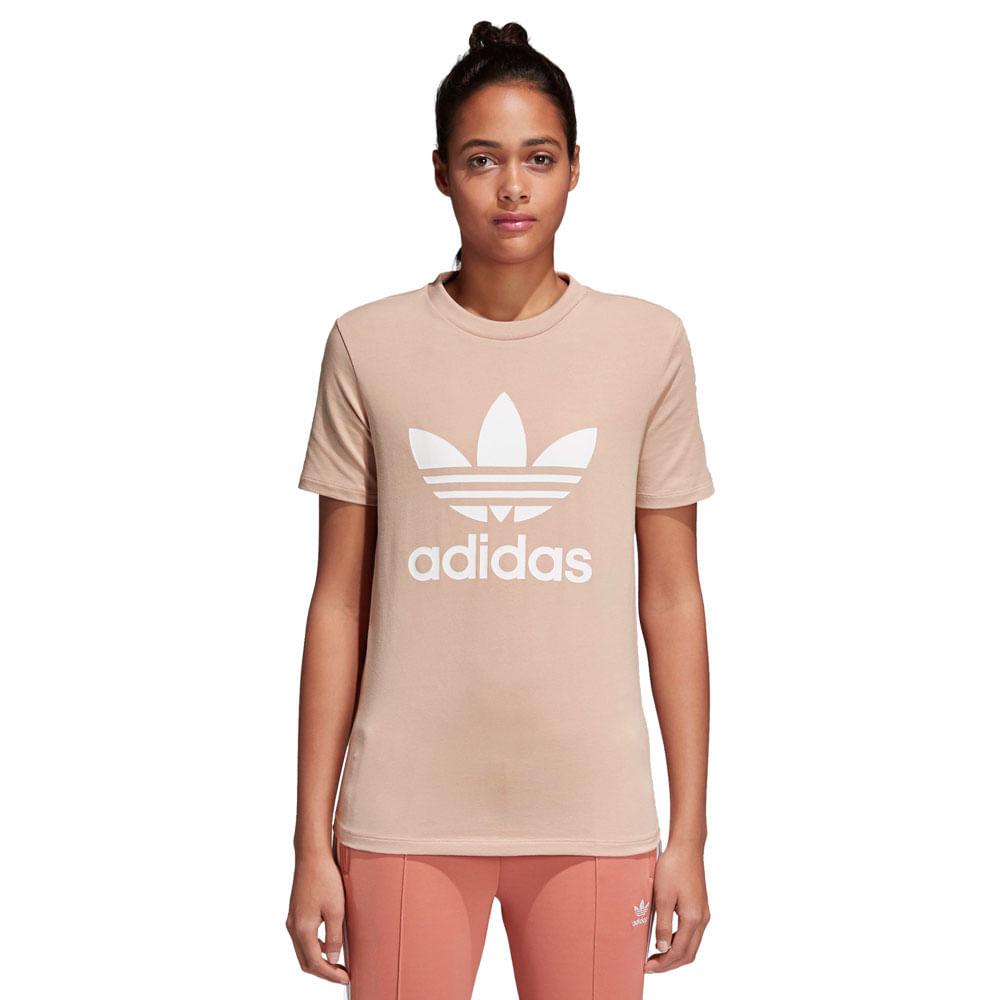 35a33e60ee Camiseta-adidas-Trefoil-Feminina- ...
