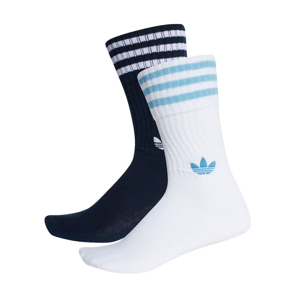 1a81331f7 Meia-adidas-Solid-Crew-2PP-Azul