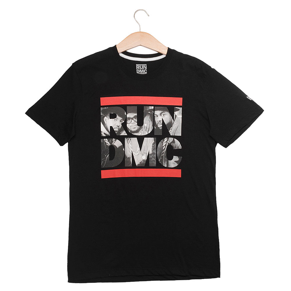 Camiseta-New-Era-Run-DMC-Logo-Masculina-Preto