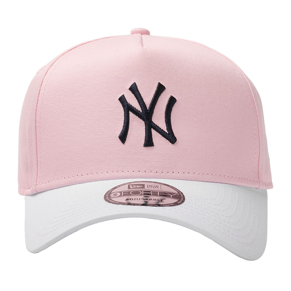 Bone-New-Era-940-Af-Sn-Blocked-Pastels-Rounded-B-New-York-Yankees-Masculino-Rosa