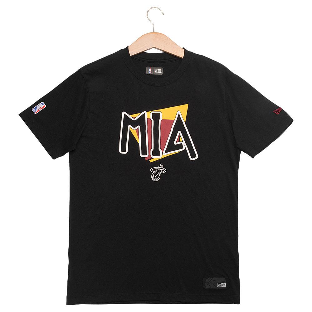 Camiseta-New-Era-90-S-City-Miami-Heat-Masculina-Preto