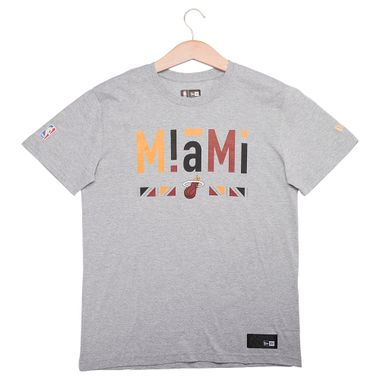 c51b72a302 Camiseta New Era 90 S Ethnic Miami Heat Masculina