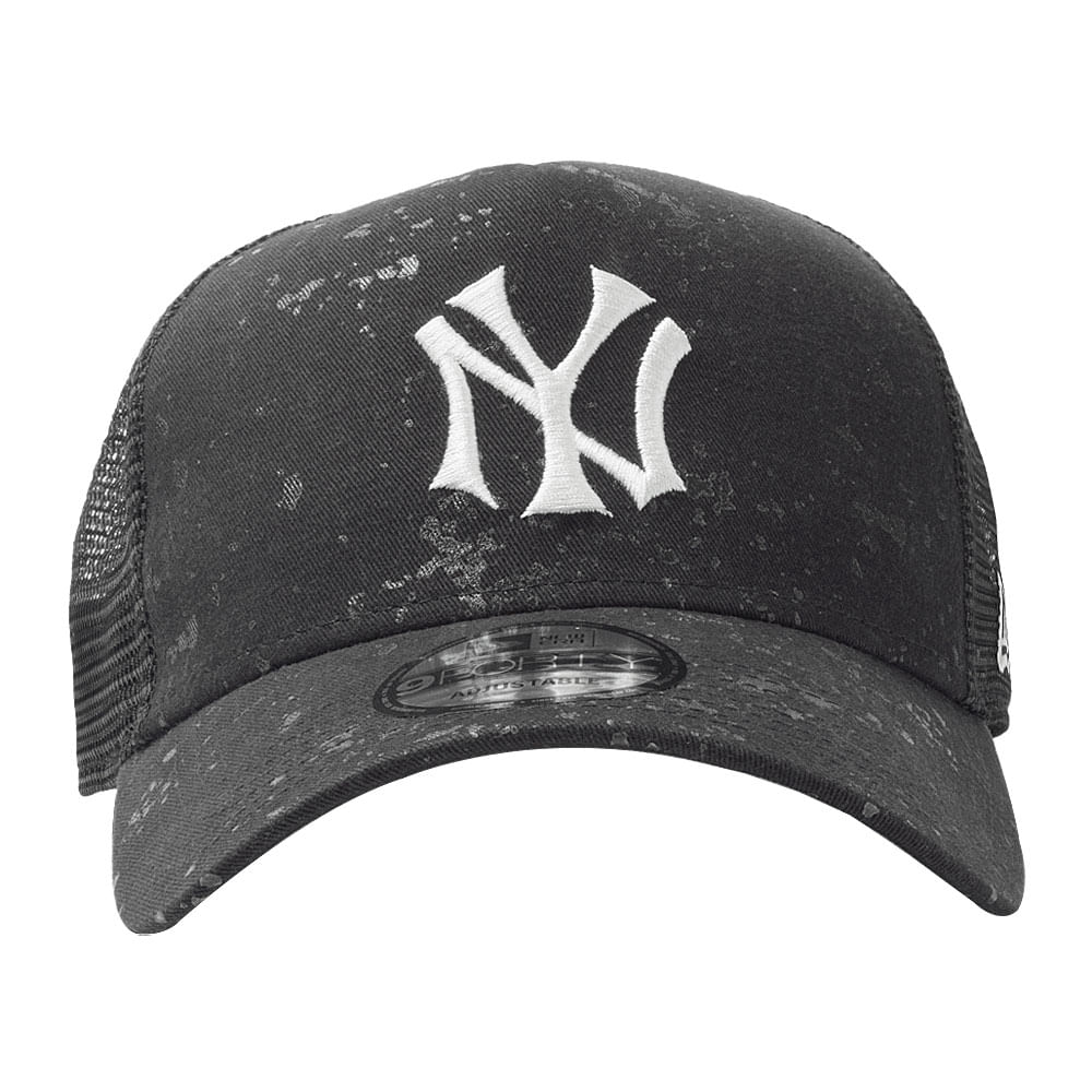 Bone-New-Era-940-Af-Tr-Sn-Washed-Spray-Co-New-York-Yankees-Masculino-Preto
