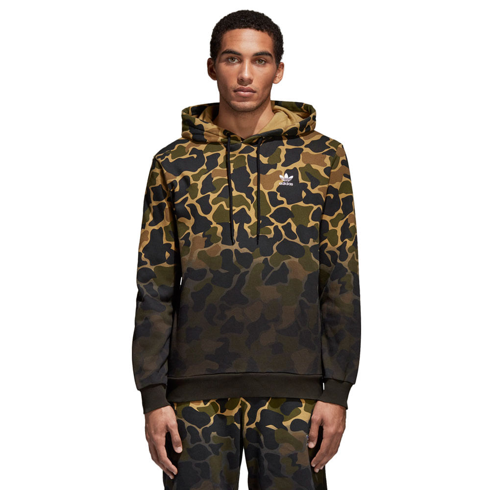 Blusa-adidas-Hooded-Camo-Masculina-Verde