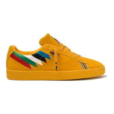 Tenis-Puma-Suede-X-Power-Through-Peace-Africa-Amarelo