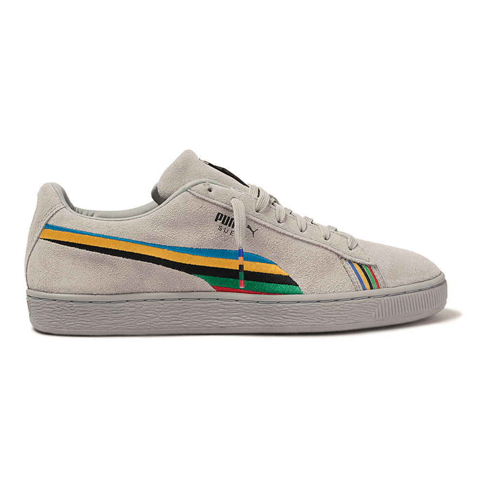 Tenis-Puma-Suede-X-Power-Through-Peace-Autralia-Cinza