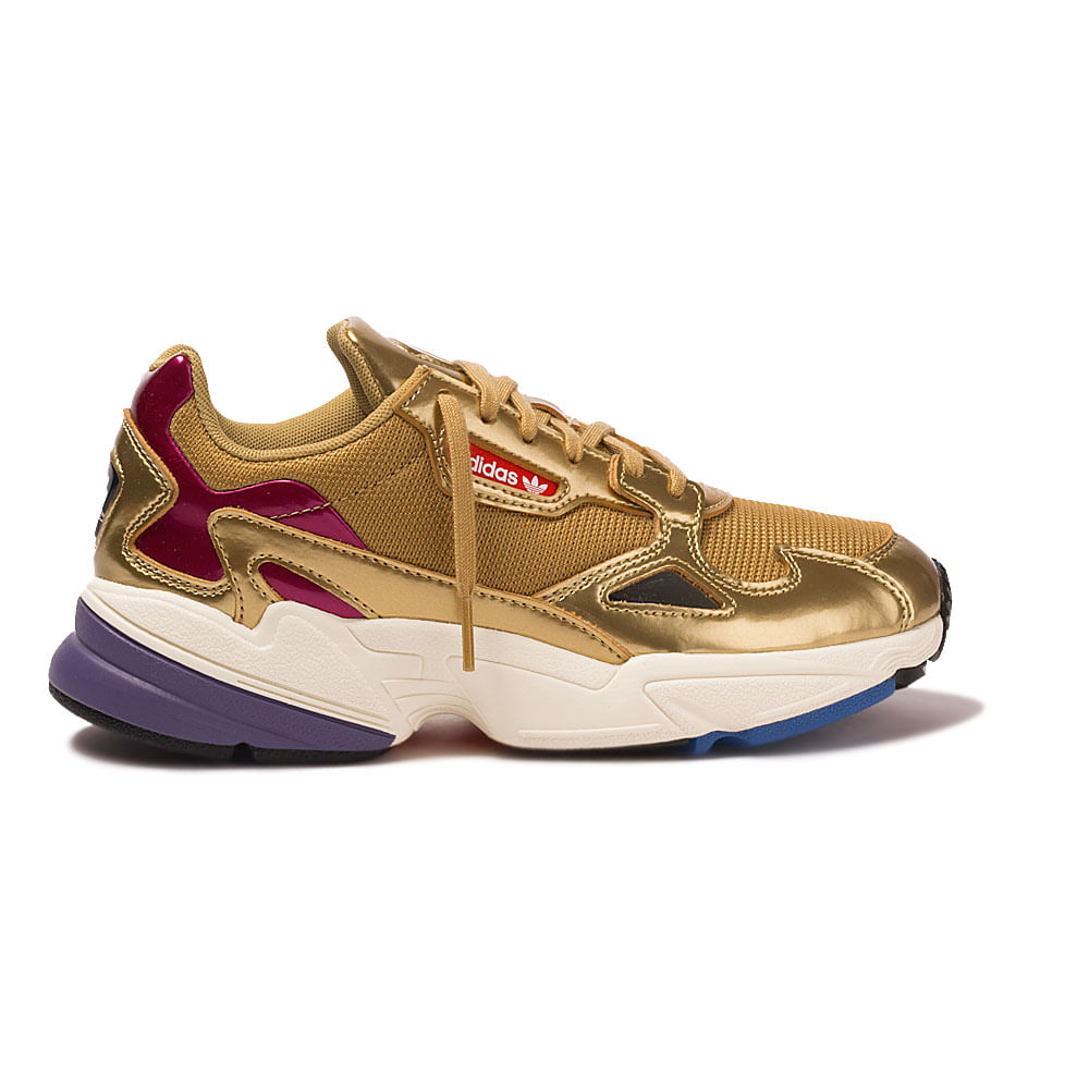 ba69889fe5c Tenis-adidas-Falcon-Feminino-Dourado ...