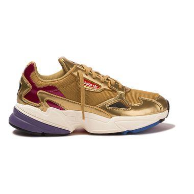 Tenis-adidas-Falcon-Feminino-Dourado