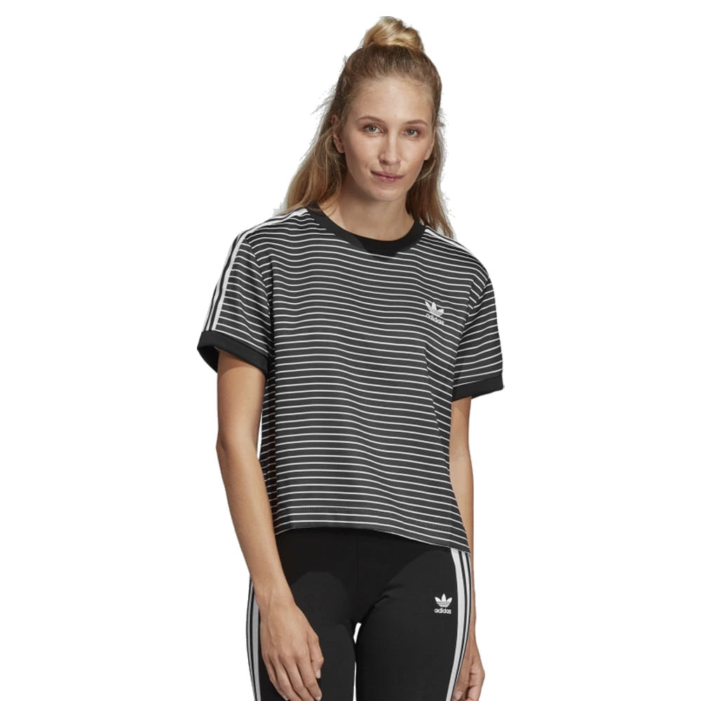 Camiseta adidas 3 Stripes Feminina