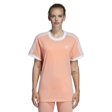 Camiseta-adidas-3-Stripes-Feminina-Laranja