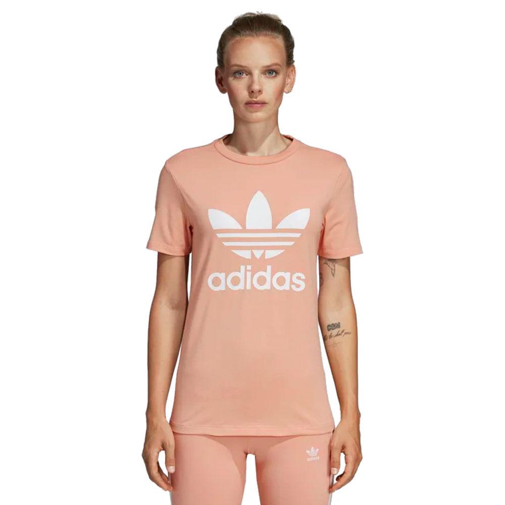 a9314ace3 Camiseta-adidas-Originals-Trefoil-Feminina-Laranja ...