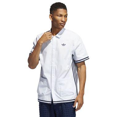 Camiseta-adidas-Seersucker-Snap-Masculina-Branco