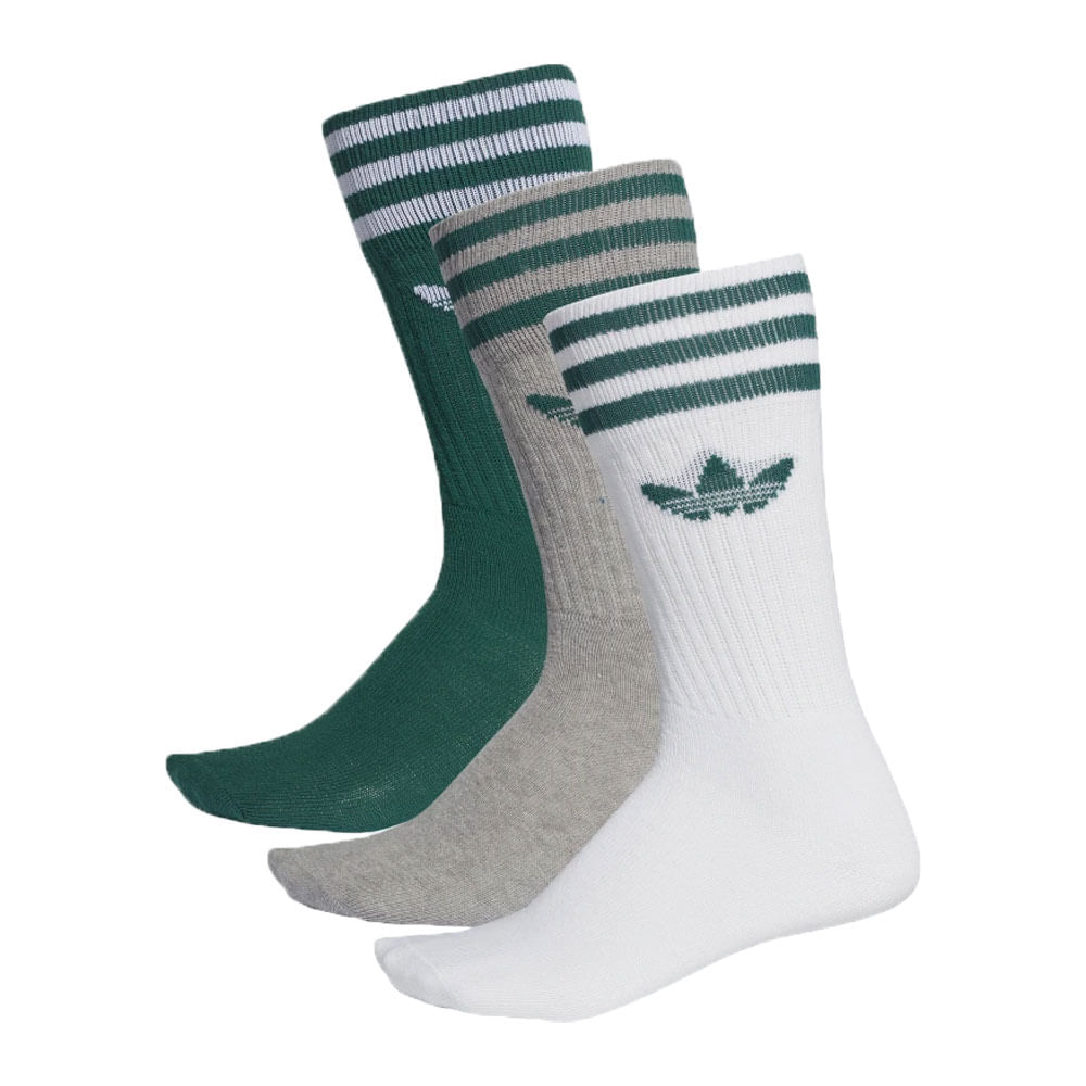 Meia-adidas-Solid-Crew-Verde