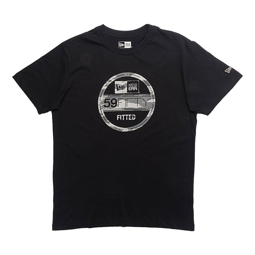 Camiseta-New-Era-Essential-59Fifty-Camo-Masculina-Preto