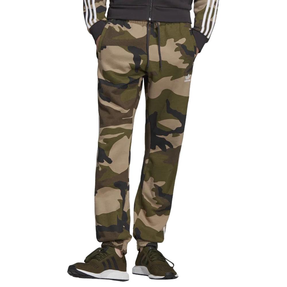 Calca-adidas-Camo-Fleece-Masculina-Verde
