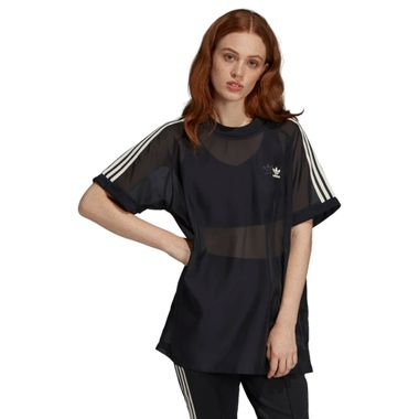 Camiseta-adidas-3-Stripes-Feminina-Preto