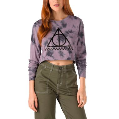 Cropped-Camiseta-Vans-X-Harry-Potter-Deathly-Hallows-Roxo