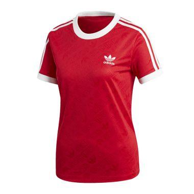 Camiseta-adidas-3-Stripes-Feminina-Vermelho