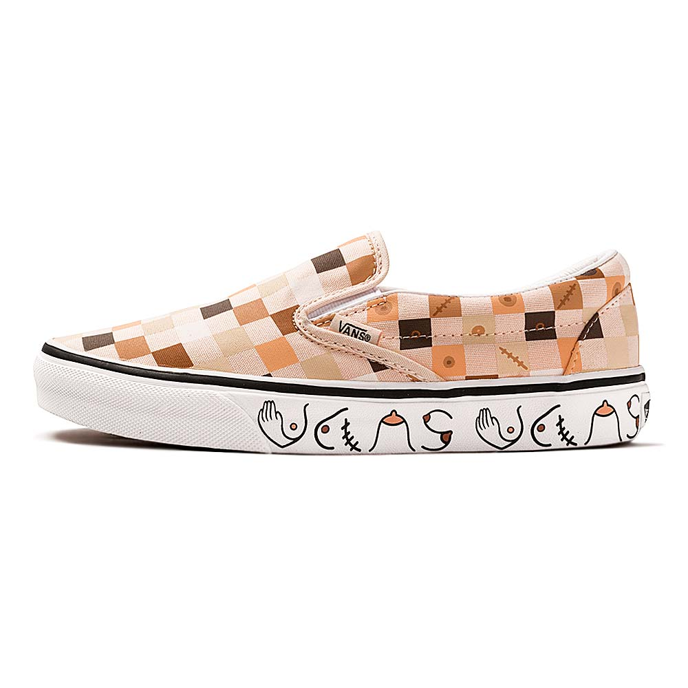 Tenis-Vans-Classic-Slip-On-Breast-Cancer-Multicolor