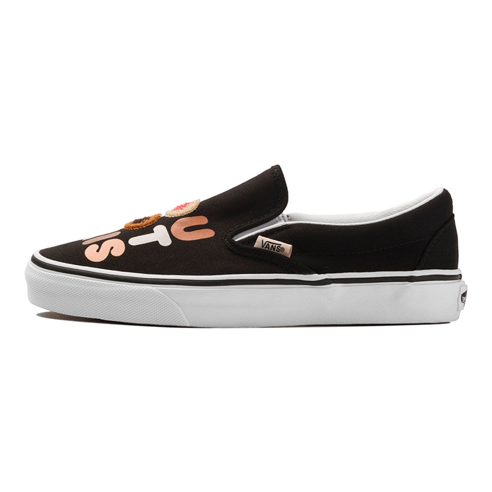 Tenis-Vans-Classic-Slip-On-Breast-Cancer-Preto