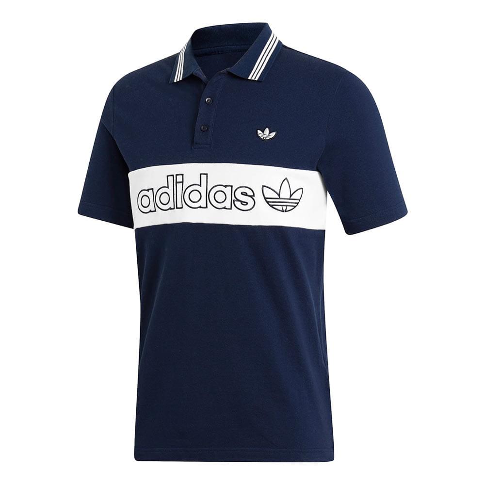 Camiseta-Polo-adidas-Masculina-Azul