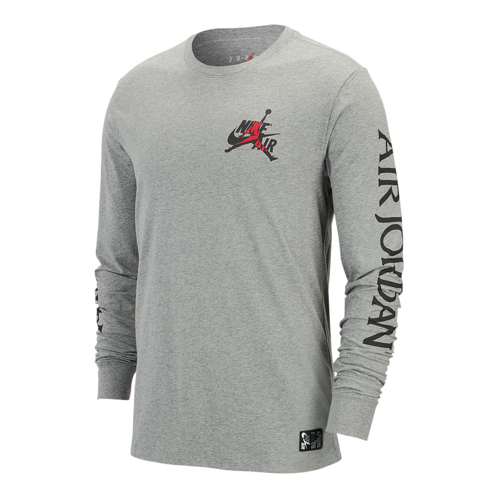 Camiseta-Jordan-Classics-Masculina-Cinza