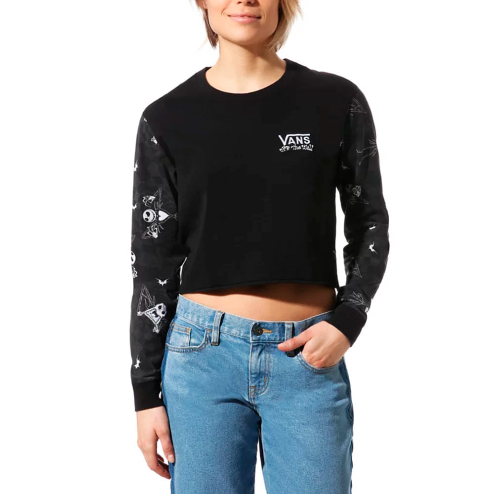 Cropped-Camiseta-Vans-X-Disney-Jacks-Check-Feminina-Preto
