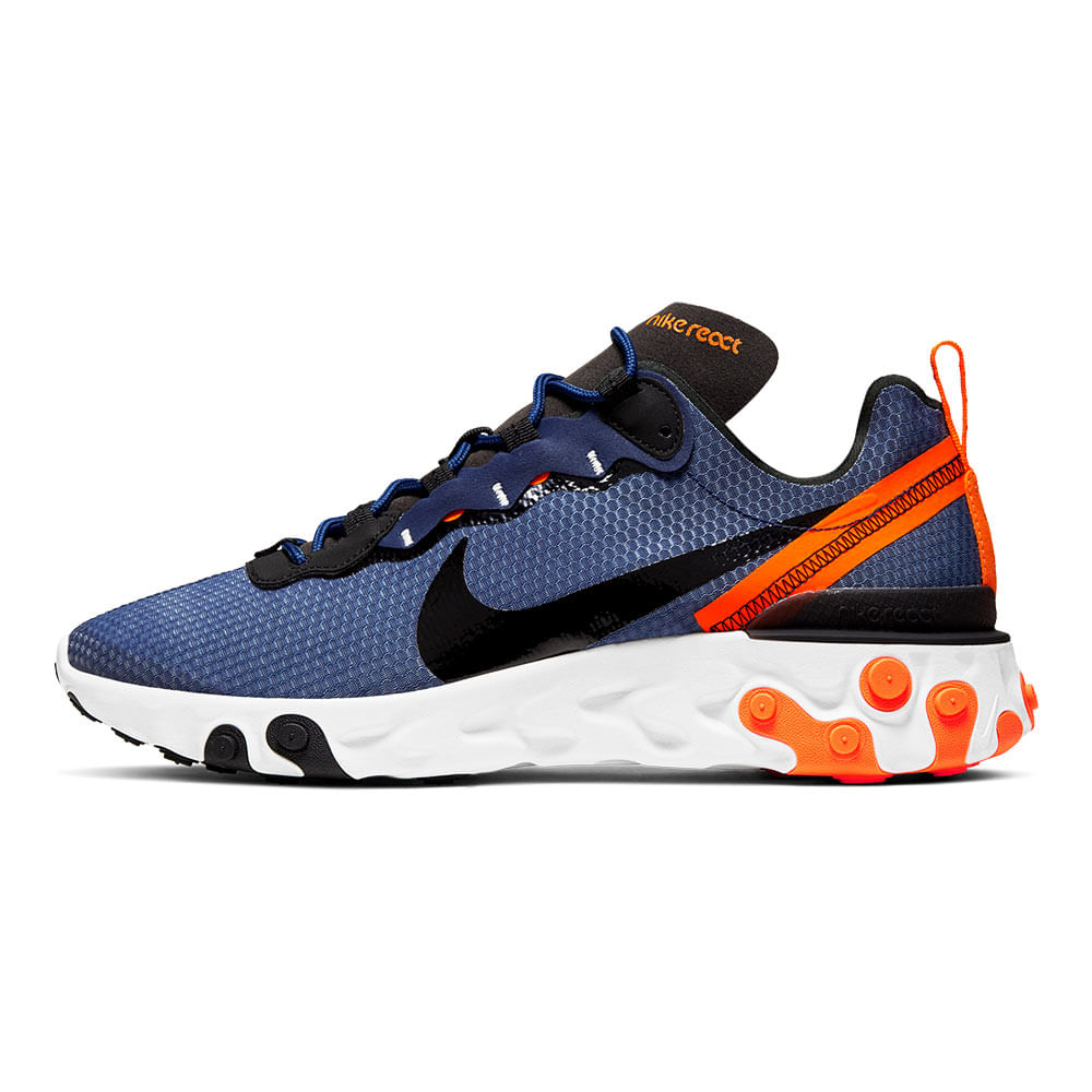 Tenis-Nike-React-Element-55-SE-Masculino-Cinza